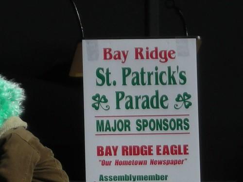 St. Patrick's Parade Sign