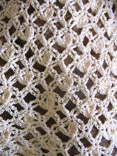 Close-up of stitch pattern