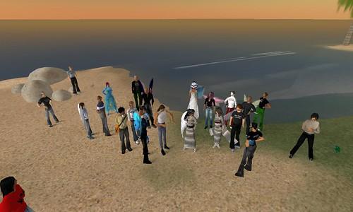 Inauguration de l'île verte dans Second Life