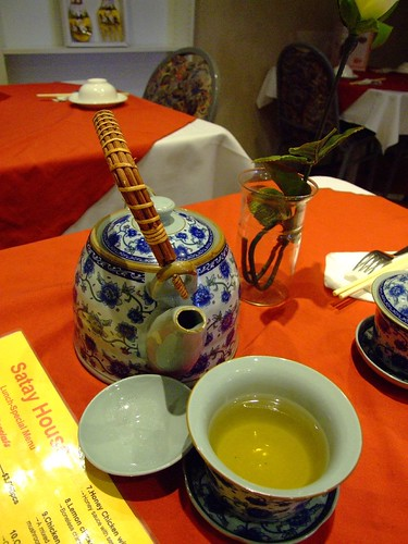 A pot of Green Tea at Satay House, Wollongong Mall