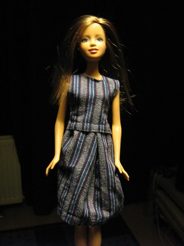 barbie with a dress on