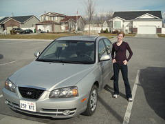 Julie by Her New Car