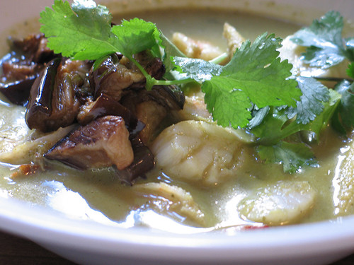 Curry Verde con Gambas y Vieiras