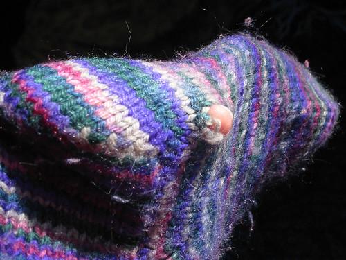 hole in toasty sock