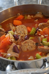 Andouille Sausage Stew with Red Beans and Rice