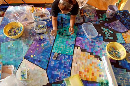 Mosaic Art – Work In Progress – Vitreous Glass Tile & Ceramic Tile ...