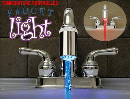 Temperaturgesteuerte LED-Wasserhahn-Beleuchtung