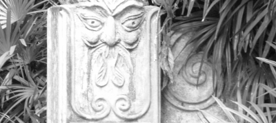 Heavily GIMPed detail of one of the Brief gate posts