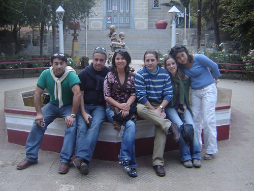 Michelina, Solange, Cristián, Cecilia, Gustavo OlguÃn y yo.