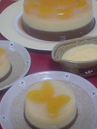 puding mandarin-choco