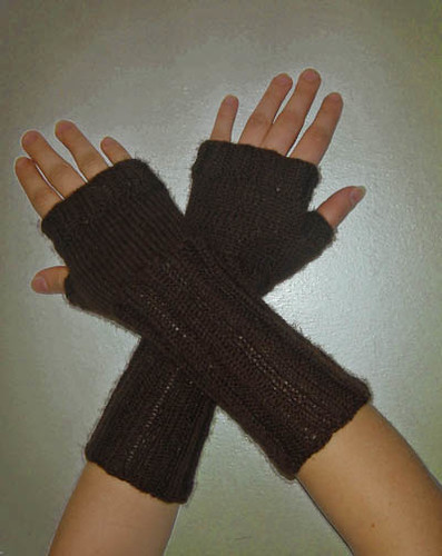 Brown wrist warmers II
