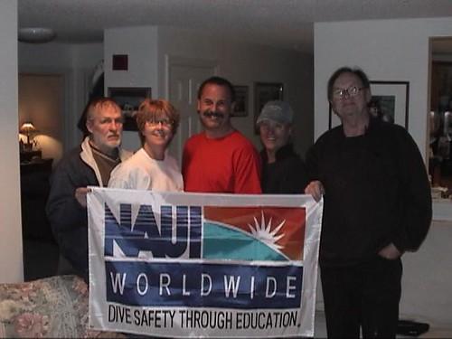 Ted Barnes and NAUI Staff