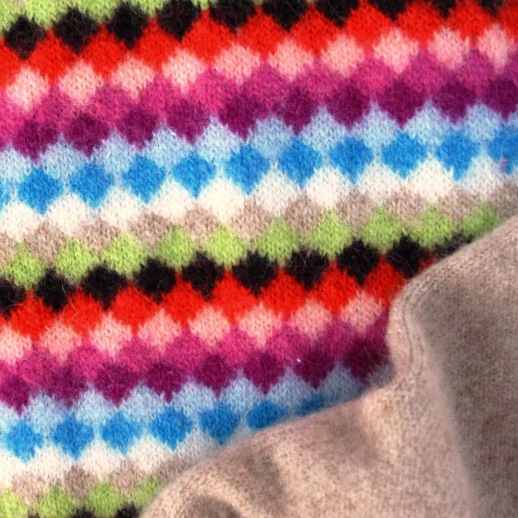 Wool diamond pattern sweater - detail