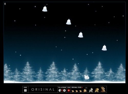 Winterbells - Beautiful Flash game screenshot