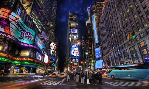 a HDR photograph of times square by Trey Ratcliff of Stuck in Customs