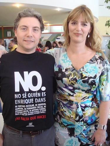 Ramón Corominas con Sonia Blanco