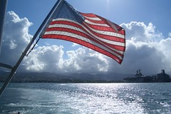 Flag over Pearl Harbor