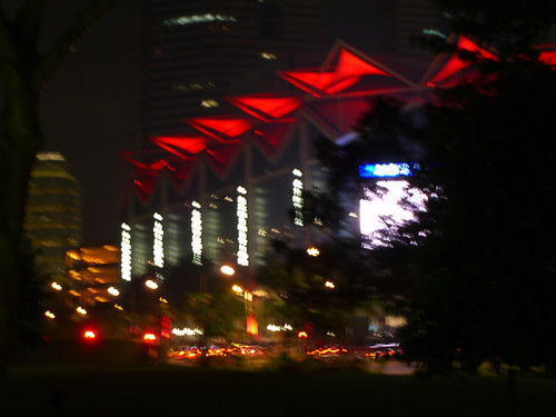 Blurred shot of Suntec