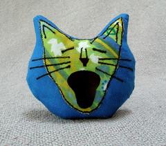 big mouth cat pillow