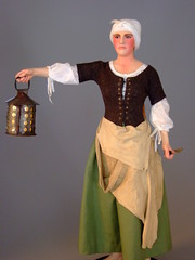 Historical Portrait Figure of peasant woman of...
