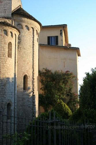 Dawn rises in Spoleto