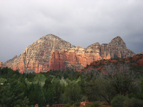 Stormy weather in red rock country