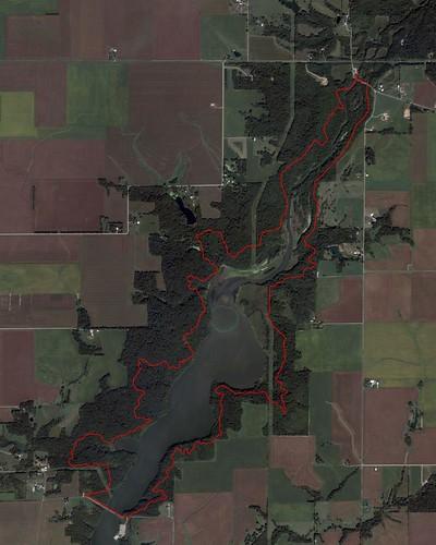 Clinton Lake trail map