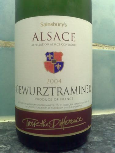 Sainsbury's Taste the Difference Gewurztraminer 2004