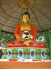 Buddha statue in the Tibetan monastery in Sarnath