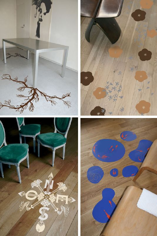 Domestic - Vinyl Decals for the Floor?
