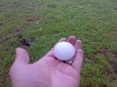 Golf ball sized hail