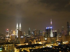53.從房間陽台看出去的吉隆坡夜景