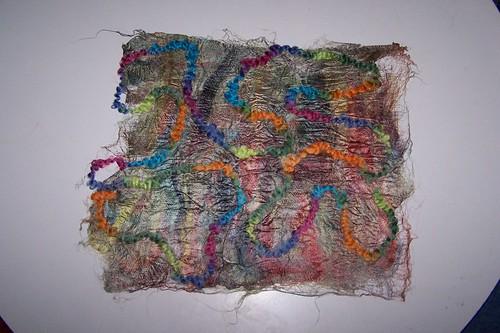 Silk Paper with Fancy Wool