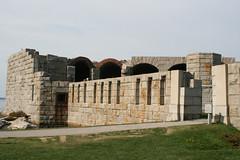 Exterior of Fort Popham