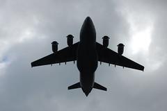 A big plane performs a flyover!!!!