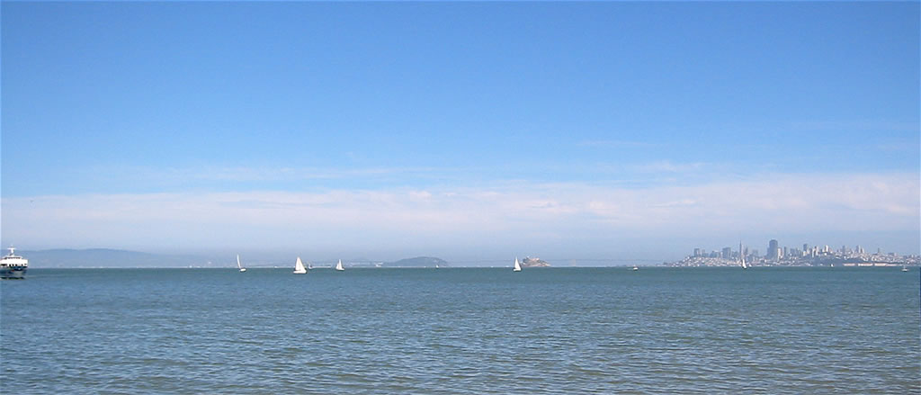 San Francisco and Bay seen from Sausalito 31 May 2004