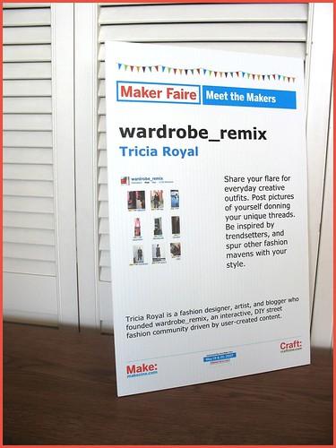 wardrobe_remix @ the maker faire