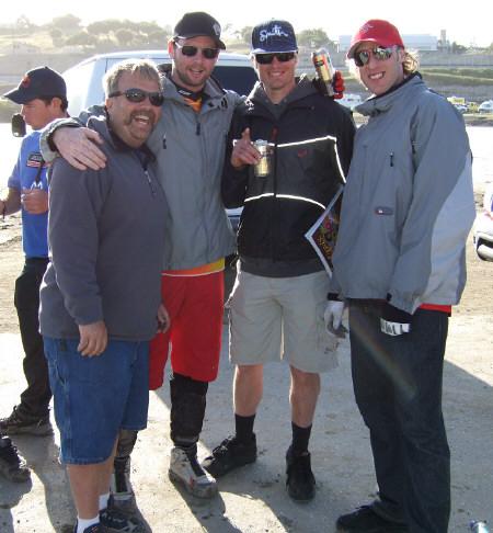 Randy, Nathan Rennie, Kirt Vories, Steve Peat
