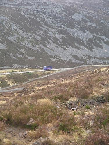 tåget man kunde köra upp (nästan) helt till toppen av Cairngorm