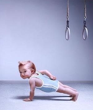 Bebe gimnasta