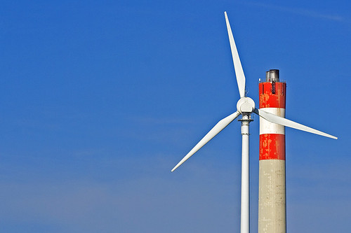 Wind Vs. Coal by flickr user rpeschetz
