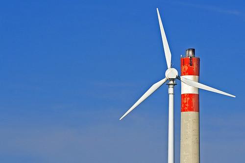 Wind Vs. Coal by flickr user rpeschetz