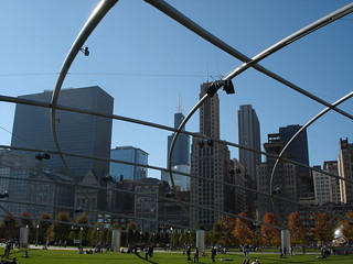 Sears Tower through the Pritzker Pavillion