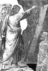 Jesus raising Lazarus from the dead