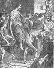 Triumphal entry of Jesus into Jerusalem on a D...