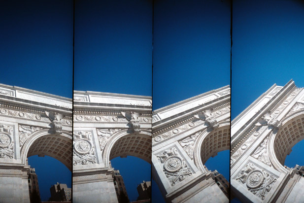 A look at the Arch in Washington Square Park, in Lomo style