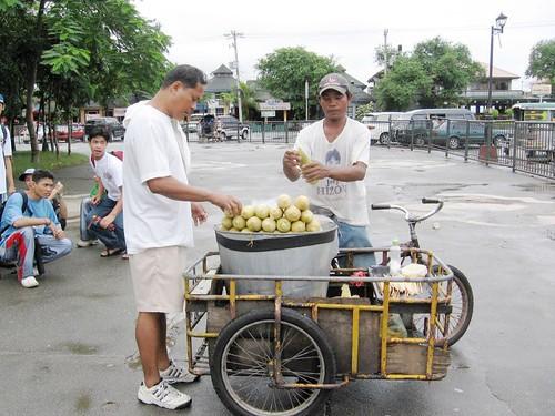 Rizal Park, Manila, Philippines corn,boiled,tricyle,park,ambulant,vendor snack,manila,man stationary street customer nilagang mais pinoy filipino