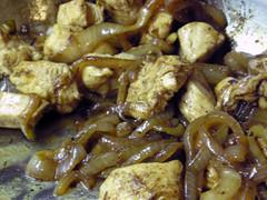 Sautéed Chicken and Onions with Teriyaki