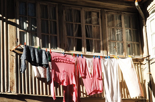 The drying clothes