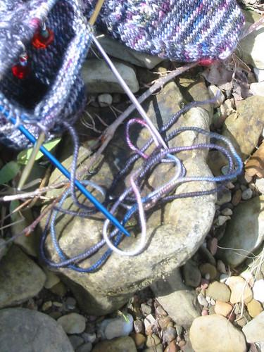 pot socks leftover yarn